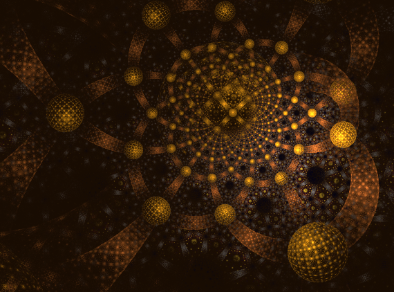 First Fractal with Background